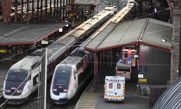 Image result for COVID-19 patients are to be transported by specially-equipped high-speed train in France's Alsace region, where hospitals are struggling to cope with the number of cases.