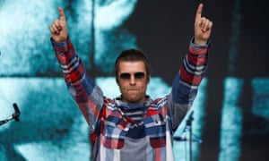 Liam Gallagher performs on the Pyramid stage