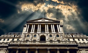 the bank of england under a moody sky