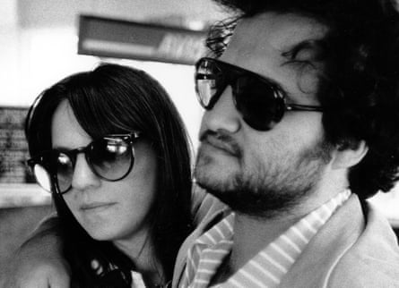 John Belushi and his wife Judy Belushi Pisano, circa 1976.