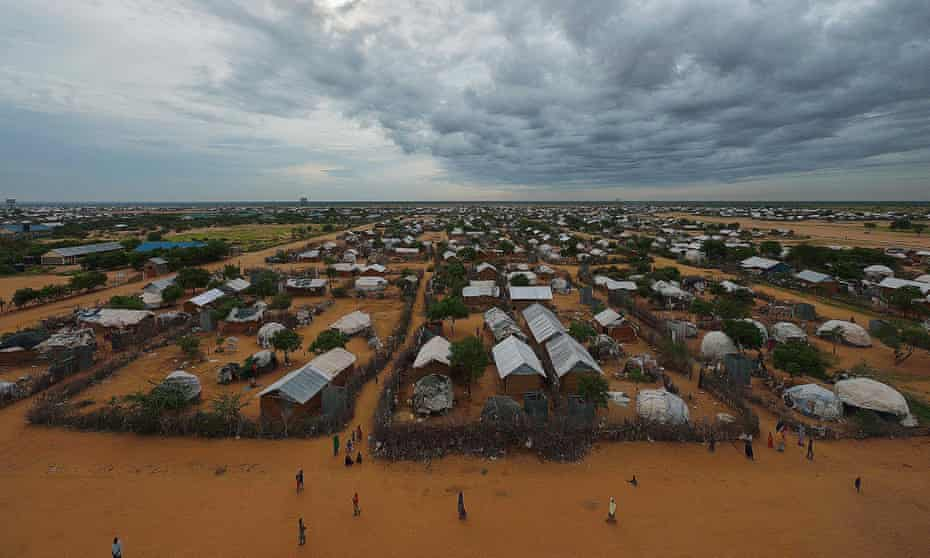 An overview of part of the eastern sector of the sprawling refugee camp, north of Nairobi.