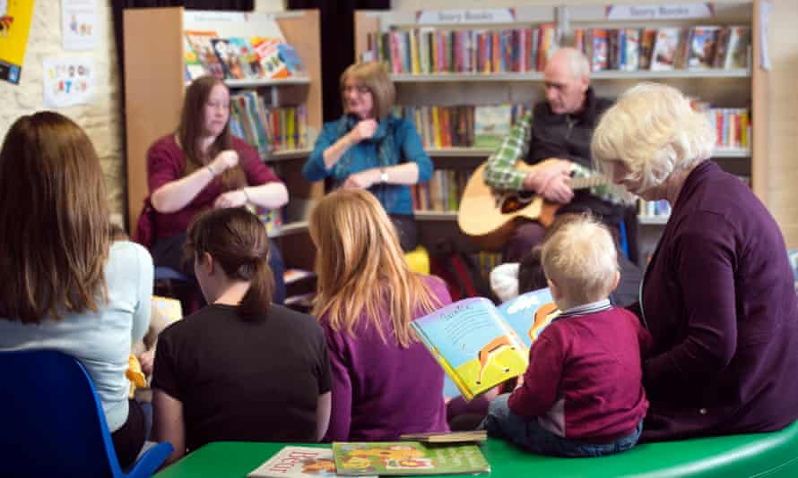 Rhyme time at a library in Swindon.