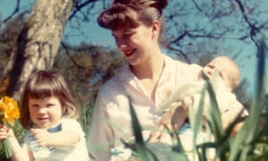 Tasting the spring … Plath with children Frieda and Nicholas in 1962.