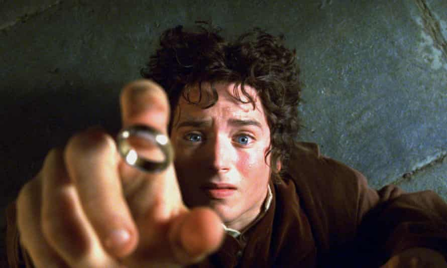 Elijah Wood as Frodo in the movie Lord of the Rings