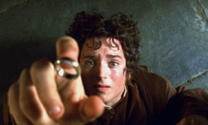 Elijah Wood as Frodo in The Lord of the Rings: The Fellowship of the Ring.