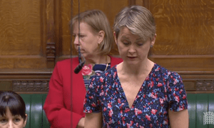 Yvette Cooper in the Commons on Monday evening