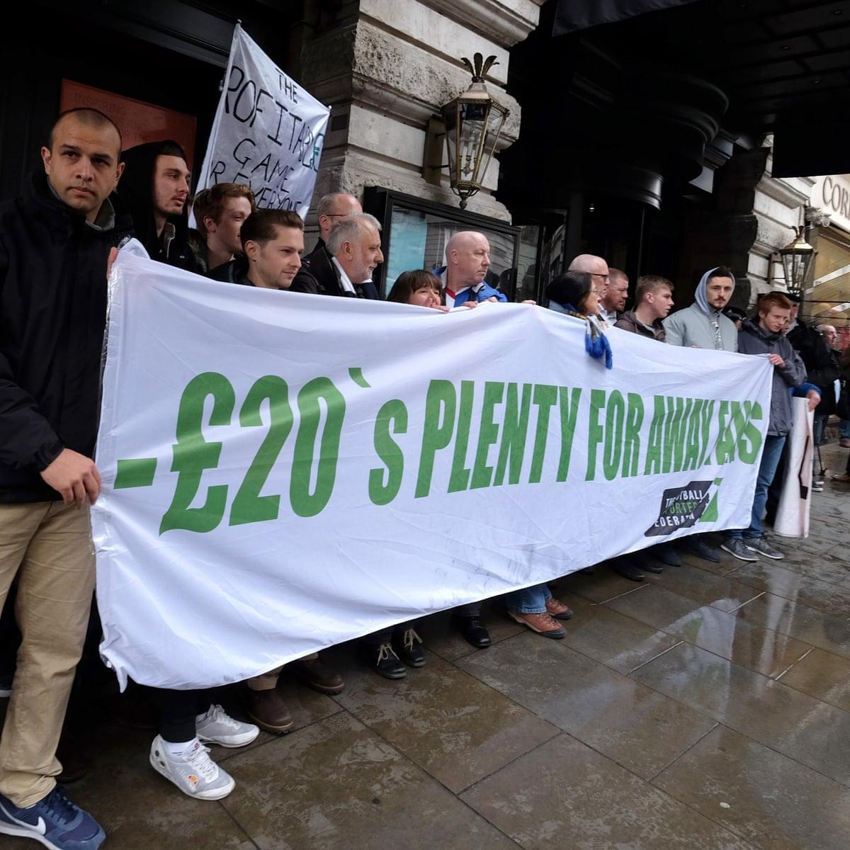 Twenty's Plenty campaign sets fan sense against Premier League greed    Soccer   The Guardian