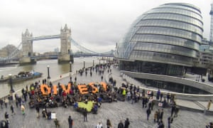Divest London has protested over divestment plans.