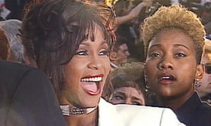 A still of Houston and Crawford from the BBC documentary Whitney: Can I Be Me?