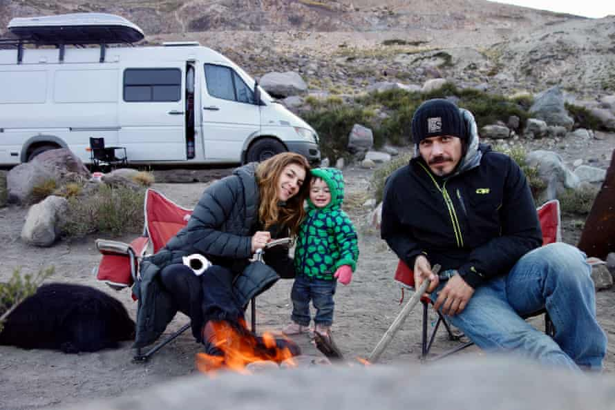 A family van shot at Valle de Condor, Chile.