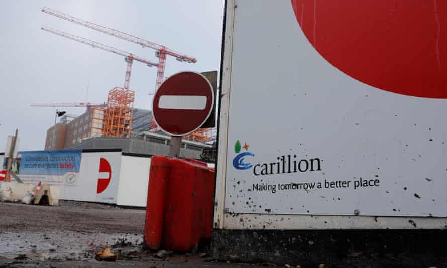 The Carillion construction site at the Midland Metropolitan hospital in Smethwick, Birmingham.