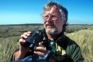 Bill Oddie with binoculars