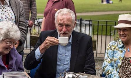 Jeremy Corbyn in Keswick in August.