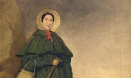 An oil painting of Mary Anning (1799-1847)