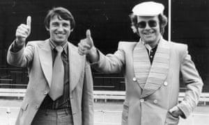 Graham Taylor with Watford chairman Elton John.