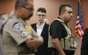 Texas, USPatrick Crusius pleads not guilty during his arraignment in El Paso. The 21 year old stands accused of killing 22 and injuring 25 during a mass shooting at an East El Paso Walmart in the seventh deadliest mass shooting in modern U.S. history.