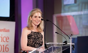 Host Sally Phillips announces the winners and presenters of the Guardian Public Service Awards 2016