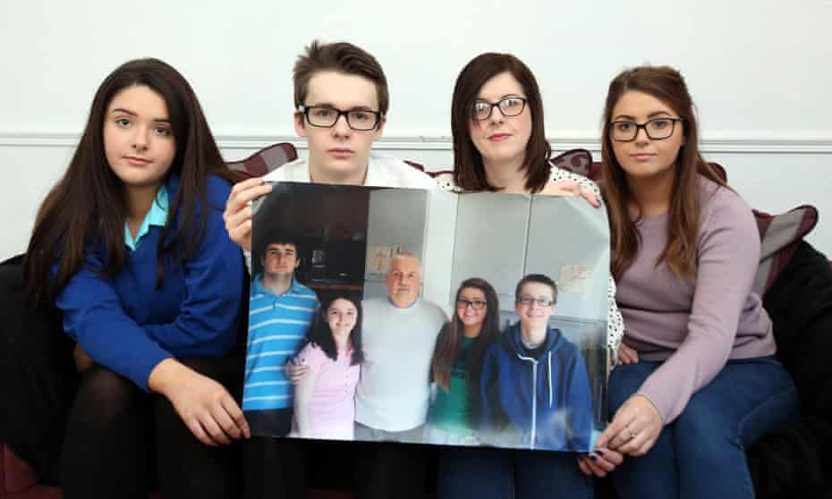 Siobhan McLaughlin (second right) with her three of her four children – Rebecca, Billy and Lisa.