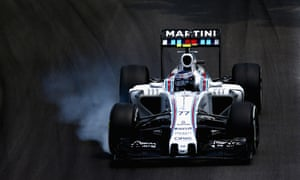 Formula One driver Valtteri Bottas driving for Williams during the Brazilian grand prix.