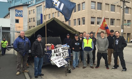 Carlton United Breweries workers strike at the Melbourne plant.
