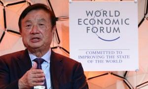 Huawei founder and chief executive Ren Zhengfei in Davos.