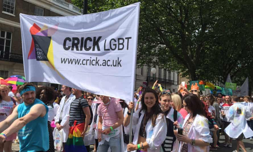Crick scientists marching