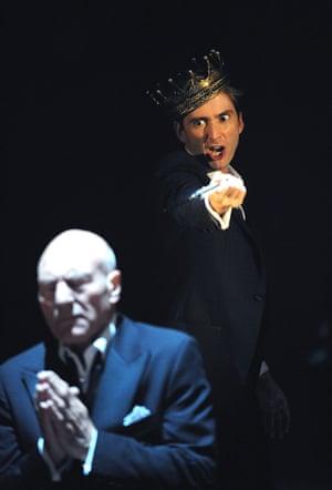 Patrick Stewart as Claudius and David Tennant as Hamlet, 2008