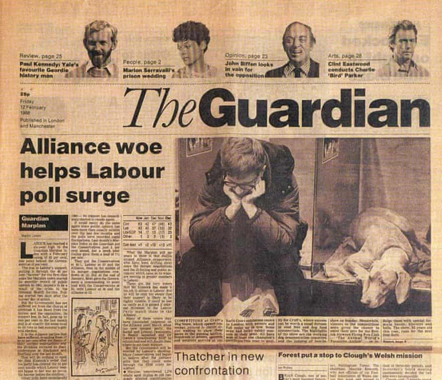 First issue of the 1988 new-look Guardian, designed by David Hillman.