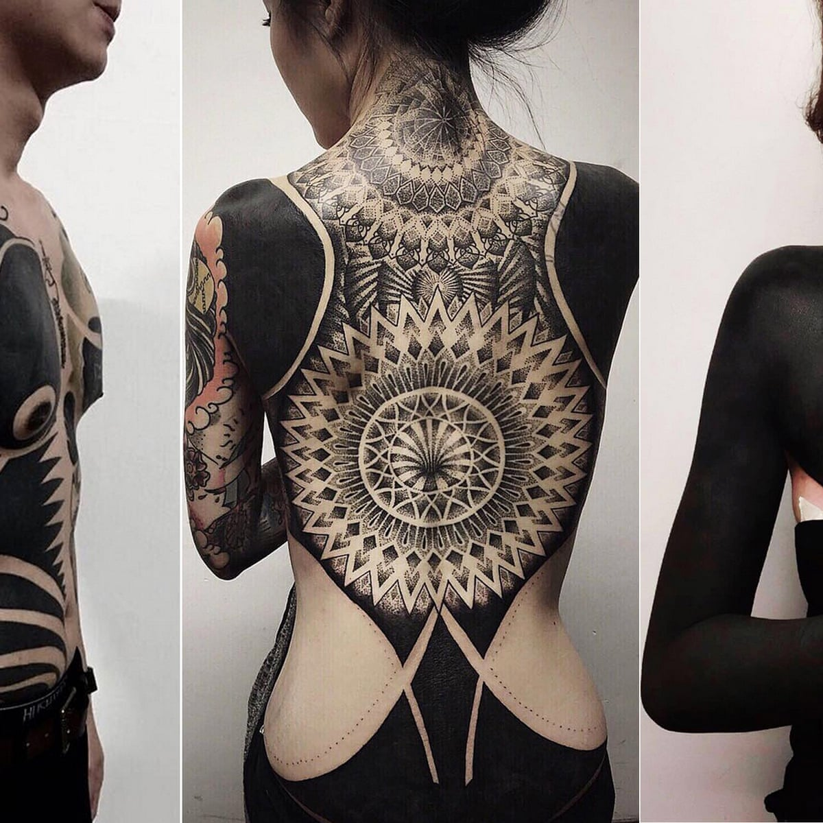 Dark Art The Rise Of The Blackout Tattoo Tattoos The Guardian A tattoo is a form of body modification where a design is made by inserting ink, dyes and pigments, either indelible or temporary, into the dermis layer of the skin to change the pigment. blackout tattoo