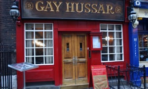 The Gay Hussar restaurant in the heart of Soho.