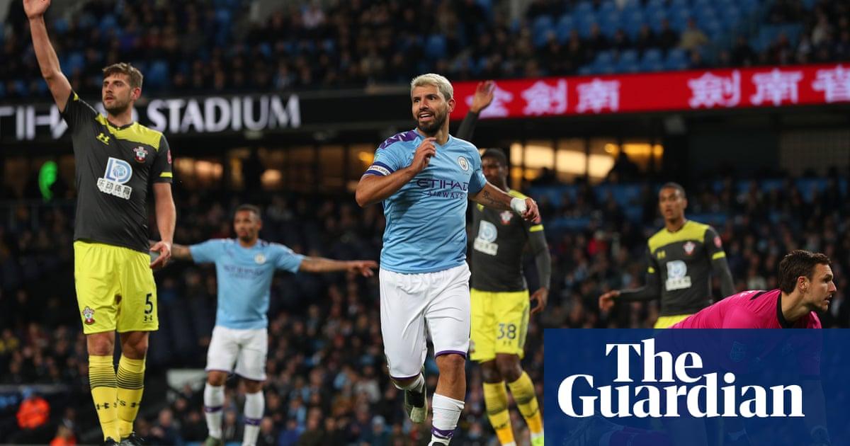 Sergio Agüero hits double but Saints avoid hiding at Manchester City