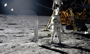Buzz Aldrin walks on the moon on July 20, 1969.