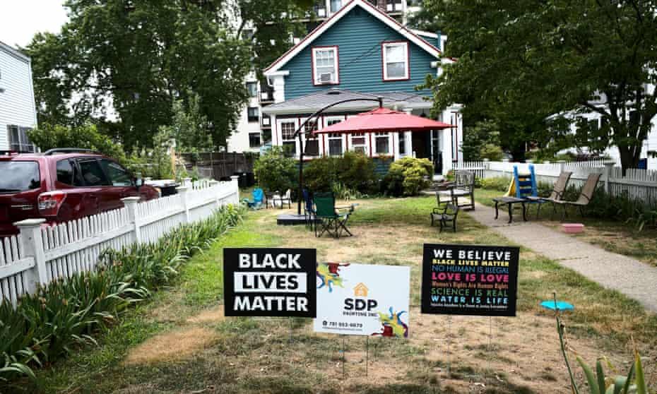 The Boston suburb of Arlington, Massachusetts. 'Well, first off, Donald Trump, Black people live in suburbia. Hello!'
