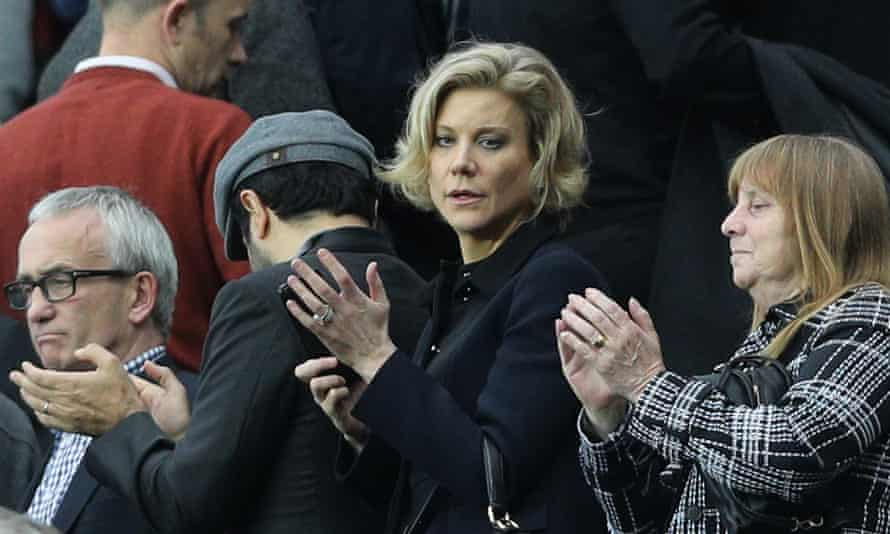 Amanda Staveley (centre), who heads the PCP Capital investment fund, was in the crowd at St James' Park for Newcastle's 1-1 draw against Liverpool in the Premier League this month.