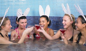 Five women in hot tub on a hen party
