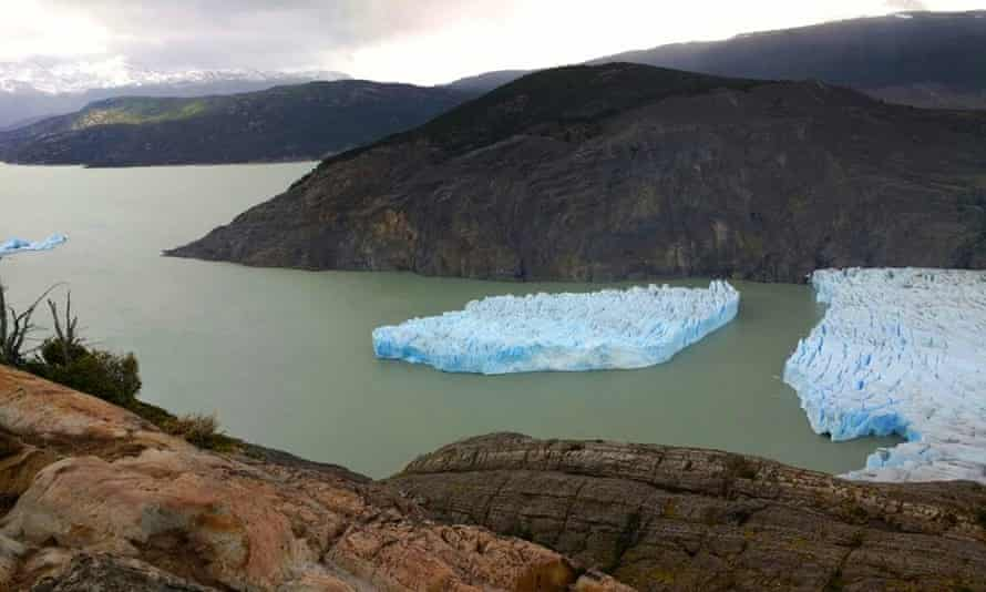 Picture released by Chile's National Forest Corporation (CONAF) showing the Grey Glacier detachment.