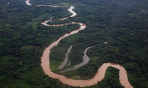 An aerial view of the Mosquitia region near the remote community of Ahuas, Honduras, where the shooting took place.