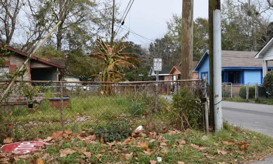 A street in Africatown's residential heart, which suffers from blight and a declining population.