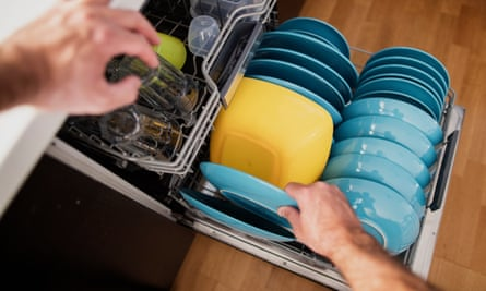 Loading the dishwasher - like a game of three-dimensional Tetris.