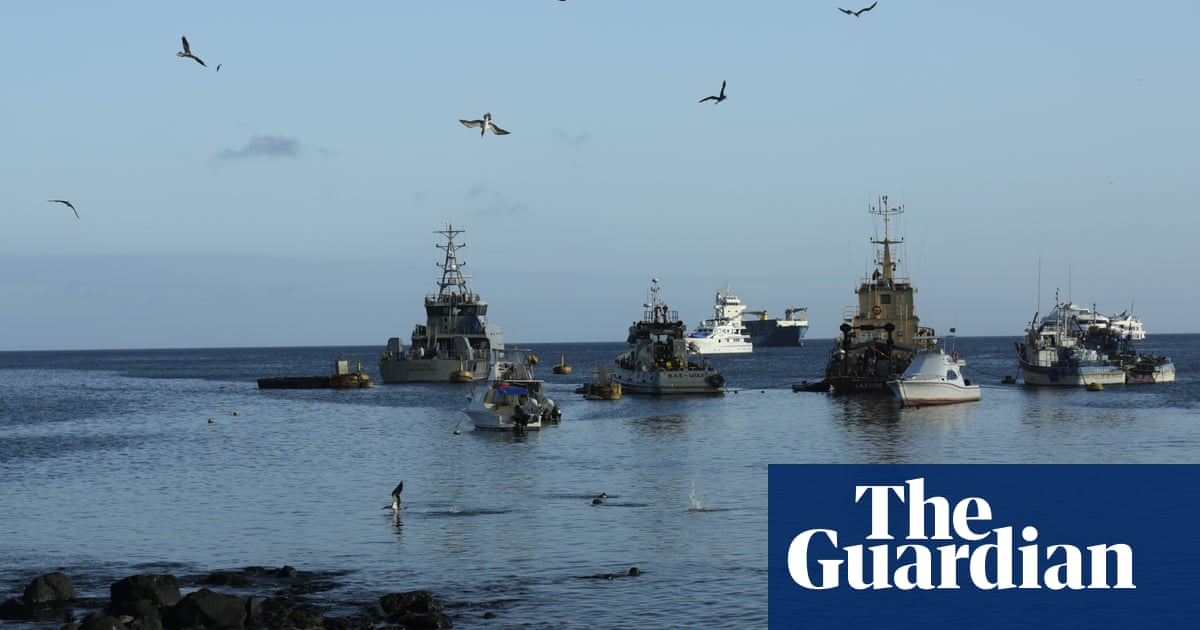 Alarm over discovery of hundreds of Chinese fishing vessels near Galápagos Islands | Galápagos Islands | The Guardian