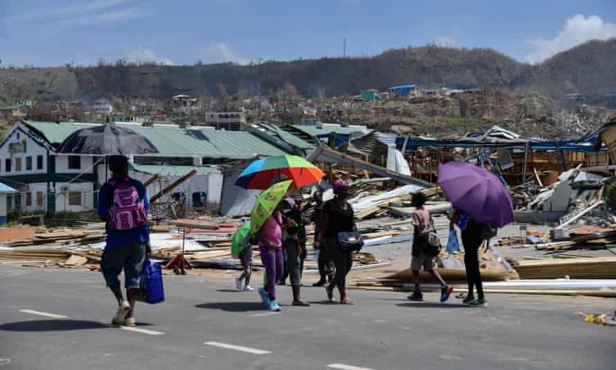 The hurricane left 27 people dead in Dominica and round 90% of the structures either damaged or destroyed.