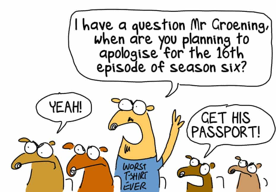 Australian fans of The Simpsons, by First Dog on the Moon.