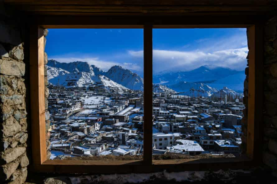 Panorama from the palace window, Leh.