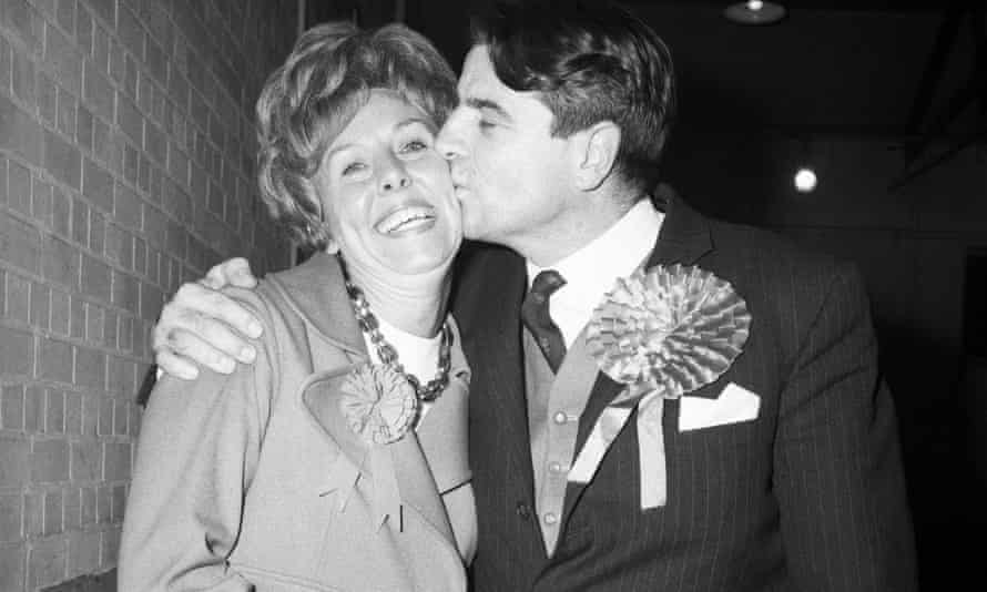Sir Peter Fry pictured with his wife, Edna, when he first won the Wellingborough seat in 1969.