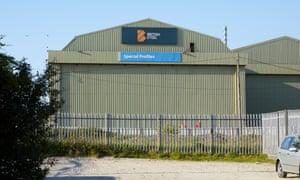 The British Steel plant at Skinningrove.