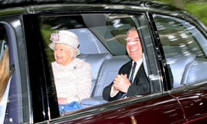 Prince Andrew attending church with the Queen near Balmoral last week