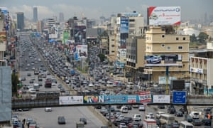Beirut's congested traffic.