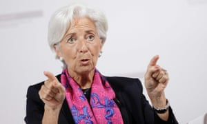 IMF chief Christine Lagarde speaks during a discussion about the consequences of a British exit from the EU, in Vienna.