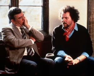 Albert Finney with director Mike Figgis on set of The Browning Version, 1994.