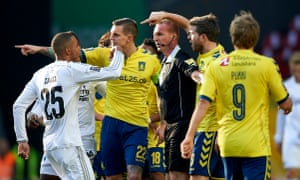 Daniel Agger and other footballers from Brondby and FC Copenhagen